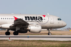 Northwest Airlines (Delta) Airbus A319 Plane Stock Photos