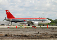Northwest Airlines passenger jet Royalty Free Stock Photo