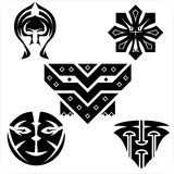 Northwest Art - masks. Vector set. Royalty Free Stock Image