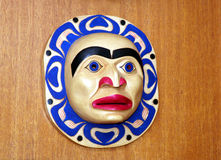 Northwest Coast Indian Mask. Hand Carved Northwest Indian Mask Stock Image