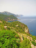 Northwest coast of Majorca, Sierra de Tramuntana, coastline Stock Photos