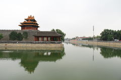 Northwest Corner Tower of Forbidden City, Beijing Royalty Free Stock Photography