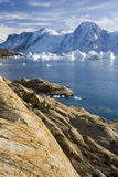 Northwest Fjord - Greenland. Northwest Fjord in the far reaches of Scoresbysund in eastern Greenland Royalty Free Stock Photo