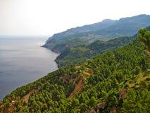 Northwest Majorca, coastline, top view Stock Photo