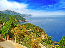 Northwest Majorca, coastline, top view Royalty Free Stock Photography