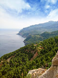 Northwest Majorca, coastline, top view Royalty Free Stock Photo
