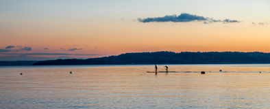 Northwest Paddle Boarders 2 Royalty Free Stock Photos