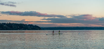 Northwest Paddle Boarders Stock Photo