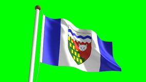 Northwest Territories flag stock video footage