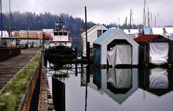 Northwest winter marina Stock Image