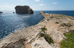 Coast of the island of Gozo Malta. Northwestern coast of the island of Gozo Malta Stock Image