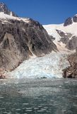 Northwestern Glacier. Alaskan Glacier Meets the Sea Stock Photos