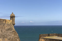 Northwestern lookout tower with ocean view. Royalty Free Stock Photo