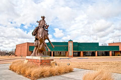 Northwestern Oklahoma State University. The Statue of The Ranger stands outside the campus of the Northwestern Oklahoma State University Royalty Free Stock Images
