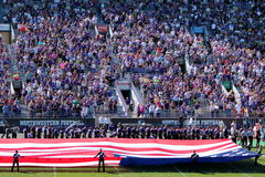 Northwestern Wildcats football band royalty free stock image