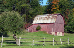 Northwoods Barn Stock Images