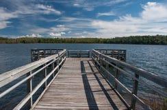 Northwoods Lake Beneath Summer Skies Stock Photo