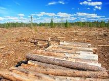 Northwoods Michigan Logging Operation Royalty Free Stock Photography