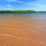Northwoods Swimming Beach Royalty Free Stock Images