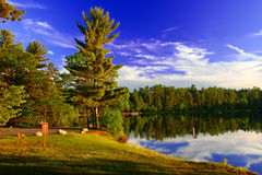 Northwoods Wisconsin Campground Royalty Free Stock Image