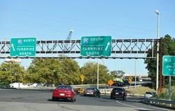 Nortn New Jersey d'un état à un autre du sud du péage 95 Images libres de droits