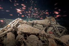 Norton 16H motorbikes cargo of the SS Thistlegorm. Royalty Free Stock Photography