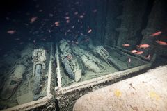 Norton 16H motorbikes cargo of the SS Thistlegorm. Stock Photography
