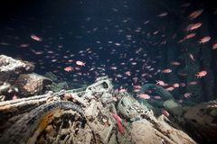 Norton 16H motorbikes cargo of the SS Thistlegorm. Stock Image