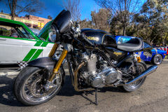 Norton Cafe Racer. Picture taken in HDR Daville Ca at the Cars and Coffee cars Show March 1st 2015 by Luigi Dionisio i stock photography