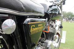 Norton commando side view Royalty Free Stock Photos