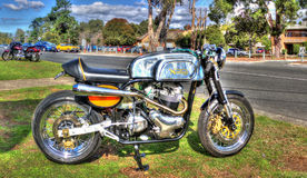 Norton Motorcycle d'annata fotografia stock libera da diritti