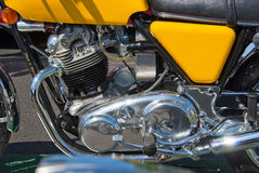 Norton motorcycle engine Stock Photography