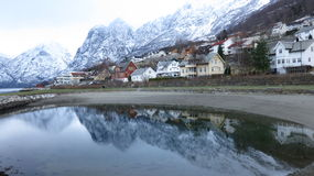 noruega Água preta fria Imagem de Stock Royalty Free