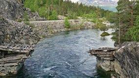noruega Alza con el Romsdal almacen de video
