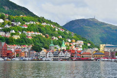 noruega Cidade-vista de Bergen Foto de Stock