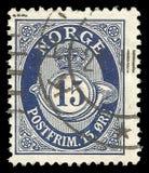 Noruega, edición estándar, muestra Posthorn NORGE en Roman Capitals fotos de archivo libres de regalías