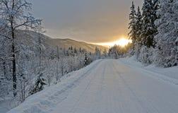Noruega en invierno fotos de archivo
