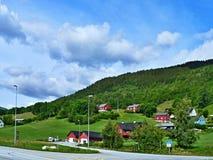 Noruega-estrada em Voss Foto de Stock Royalty Free