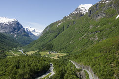 Noruega Hellesylt - Fiorde-Paisagem de Geiranger Fotos de Stock Royalty Free