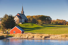 noruega Iglesia vieja de Edoya Imagenes de archivo