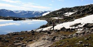 Noruega - o Nærøyfjord e o Aurlandsfjord Imagem de Stock Royalty Free