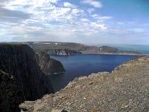 Noruega. Orilla de mar noruego. Fotos de archivo