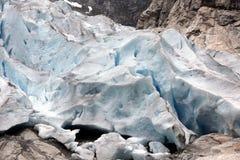 Noruega, parque nacional de Jostedalsbreen. Glac famoso de Briksdalsbreen Foto de Stock