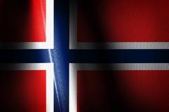 Noruega señala imágenes por medio de una bandera Imágenes de archivo libres de regalías
