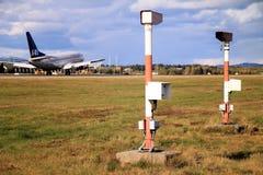 Noruega: Tráfico aéreo en Oslo Imagen de archivo