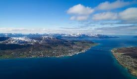 Noruego Citiy, Sortland Fotografía de archivo libre de regalías