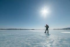 Norueguês que caminha patins Fotos de Stock Royalty Free