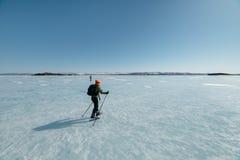 Norueguês que caminha patins Fotografia de Stock Royalty Free