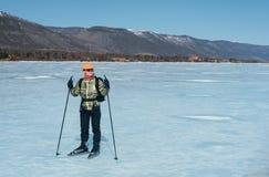 Norueguês que caminha patins Foto de Stock