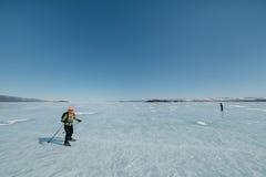 Norueguês que caminha patins Foto de Stock Royalty Free